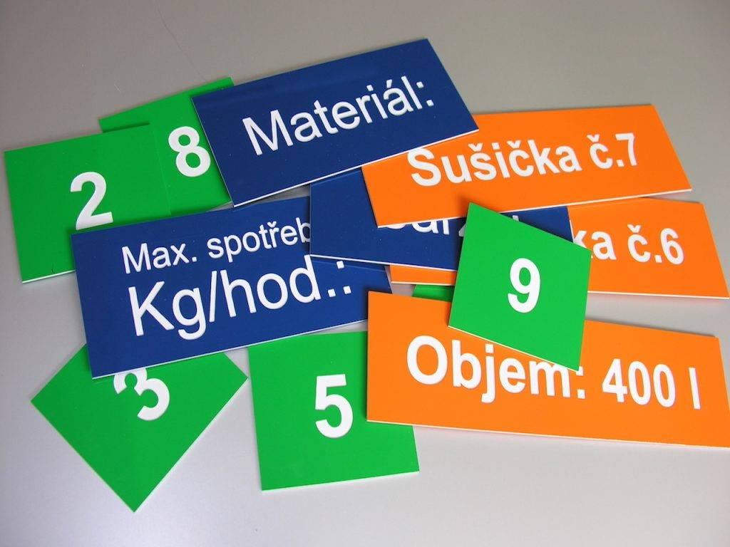 Gravírování průmyslových štítků a ovládacích panelů - MIHAL s.r.o. Velká Biteš u Brna